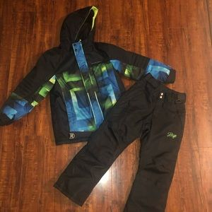 Boys Winter Ski coat & Matching snow pants